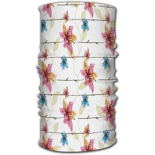 Mask sweatband, bloemendesign met magische bloem haarband unisex outdoor voor paarden wandelen