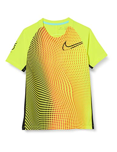 Nike Unisex-Kinder Cr7 Dry Top T-Shirt T-Shirt, Grün (Lemon Venom/Black/Black), (Herstellergröße: Large)