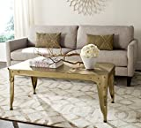 Safavieh Home Collection Classsic Dark Ant. Silver Iron Coffee Table