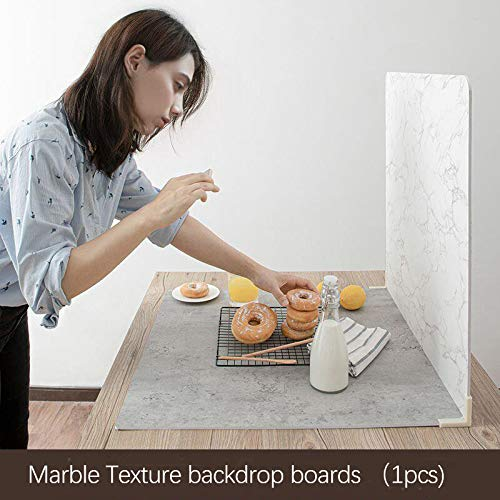 BEIYANG Premium Photo Backdrop Board for Flat Lay or Food Photography Background, Durable Waterproof Marble Texture Photo Backgrounds for Product Photography 24x24in