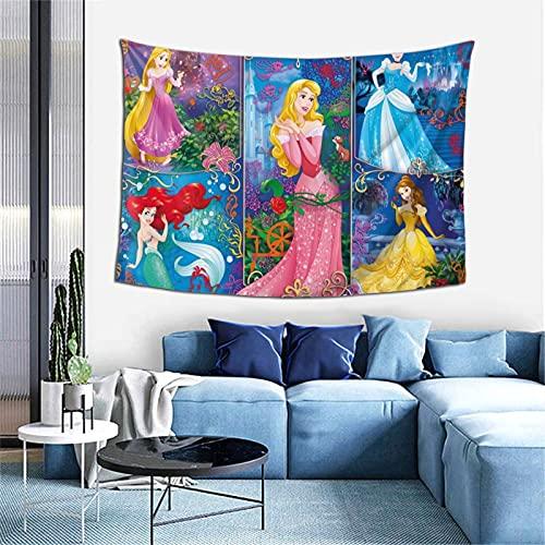 Tapiz de pared con diseño de princesa de Disney para colgar en la habitación, sala de estar, dormitorio