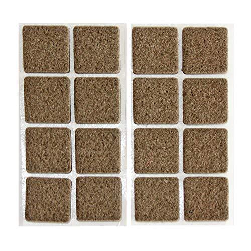 HKB ® 16 Filzgleiter, 22x22mm, 5mm stark, selbstklebend, Wollfilz natur braun, Hersteller Hettich, Artikel-Nr. 0062717
