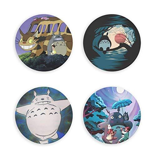 songyang To-t-oro - Abrebotellas magnético con diseño de anime, diseño redondo, 4 unidades, decoración del hogar