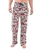 The Simpsons Pantalones lounge con cintura elástica cómoda y cordón para hombre [2XL] [Multicolor]