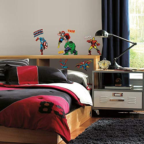 RoomMates RM - Marvel Helden Comic Wandtattoo, PVC, bunt, 29 x 13 x 2.5 cm
