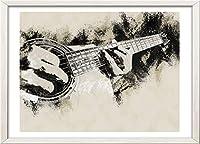 【GAWZ JAPAN】A4ポスター アコースティックギタープレイヤー ミュージック インテリア (フレームなし)光沢用紙210×297mm インテリア アメリカ ヨーロッパ アート イラスト 壁飾り 巣ごもり生活 おうち時間 部屋模様替え 写真画質 日本製