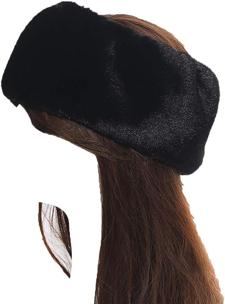 Faux Fur Headbands Women Outdoor Thick Earmuffs Ski Hat Elastic Hairbands Head Wraps