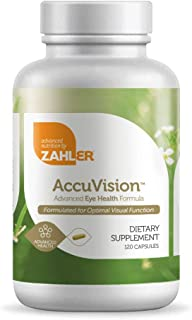 Zahler AccuVision, All-Natural Eye Health Supplement Containing Lutein and Bilberry, Optimal and Potent Vision Support For...
