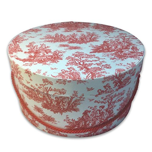 HAT OR Gift Box - Toile in RED & White