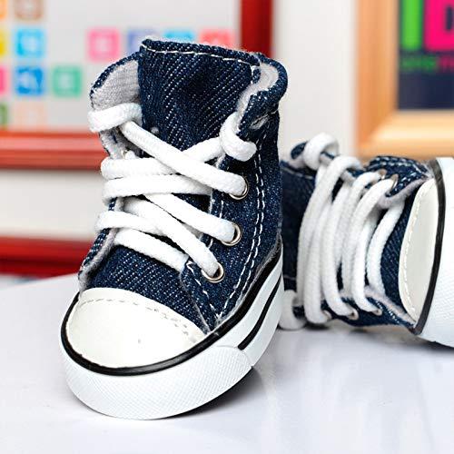 HCBDQQ Puppy Canvas Sneakers, Sportschuhe, rutschfeste Outdoor-Schuhe, Gummisohle + Weiches Baumwollfutter 1