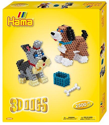 Hama Beads 3D Dogs,10.3243