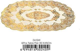 Delcasa Table Mat, Multi-Colour, 30 x 45 cm, DC1241, 6 Pieces