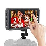 Moman Kamera Monitor Touchscreen, 5,5 Zoll DSLR Field Monitor, 3D-Lut Externer Feldmonitor, 500nits HDR Bildschirm Display Screen, 1920x1080, 4K HDMI Eingang/Ausgang für Canon Nikon Panasonic Sony M5