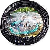Chalkalon Trampoline Sprinkler - Outdoor MIsting Cooling System 6M/ 15M, Best For Greenhouse