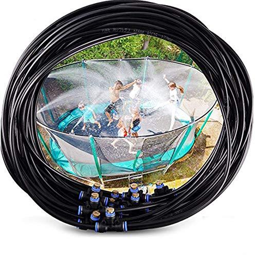 Convincied Juegos de rociadores de trampolín para niños, Juguetes para Juegos de Agua de Verano al Aire Libre para niños (Fuente de Salida de Agua de 6 m / 15 m)