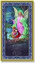 (14 7/18) Guardian Angel Plaque Fine Art Italian Plaque with Prayer 5