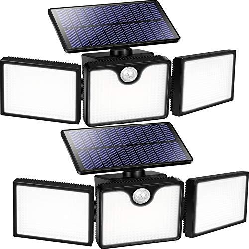 URPOWER Solar Flood Lights Outdoor, 226 LED 3 Heads Adjustable Solar Motion Sensor Lights, 270° Wide Angle Solar Powered Security Lights, Wireless Solar Outdoor Lights for Yard, Garage,Pathway(2 Pack