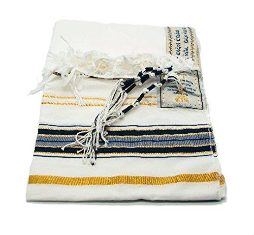 Messianic Tallit Prayer Shawl Covenant Dark Navy English/Hebrew & Bag (Israel) Holy Land by springnahal (XL)
