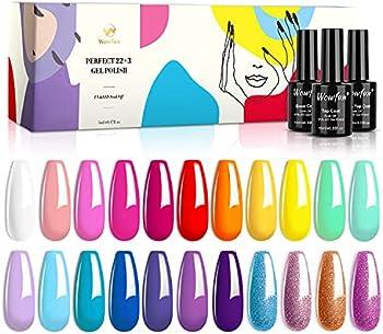 25-Pack Wowfun Gel Nail Polish Kit Set (Disney Color)
