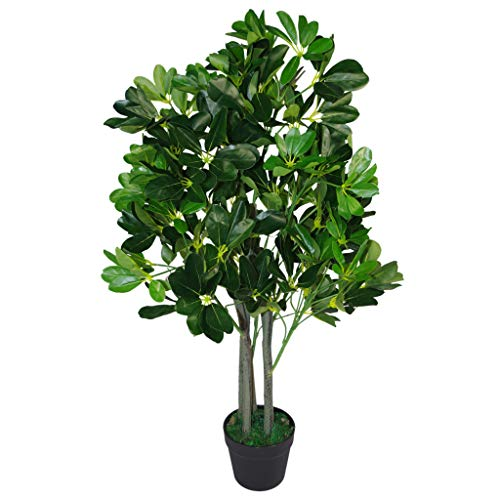 Leaf Design UK - Árbol de Paraguas Artificial (95 cm), Color Verde Oscuro