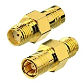 Eightwood DAB Aerial Adapter SMA Female to SMB Male Antenna Adapter 2pcs Compatible