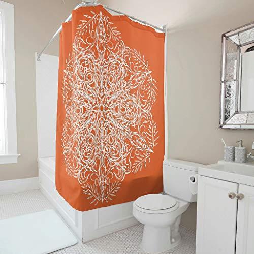 cortinas baño antimoho naranjas