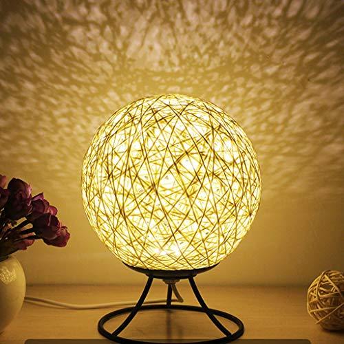 Yuzhijie Rattop - Lámpara de noche (hierro, 15 cm), diseño de estrella de deseos, color beige