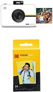 Kodak Step Touch | 13MP Digitalkamera & Instant Drucker mit 3,5' LCD Touchscreen Display, 1080p HD Video, 10x optischer Zoom, Weiß + Kodak Zink Photo Paper, 50 x 76 mm, Sofortbildfilm, 50 Stück