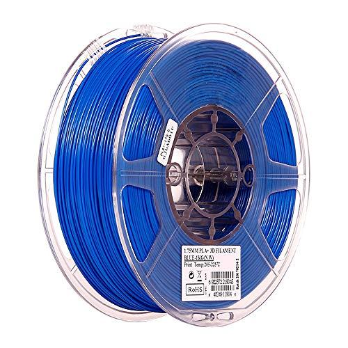 3d printer filament 3D printer filament blue, PAL+ filament 1.75mm 3D printer consumables, 1kg bobbin (2.2 pounds), dimensional accuracy +/- 0.03 mm, suitable for most FDM printers, 1 piece