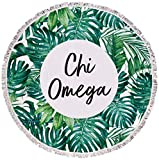 Sorority Shop Chi Omega - Palm Leaf - Fringe Towel - Blanket