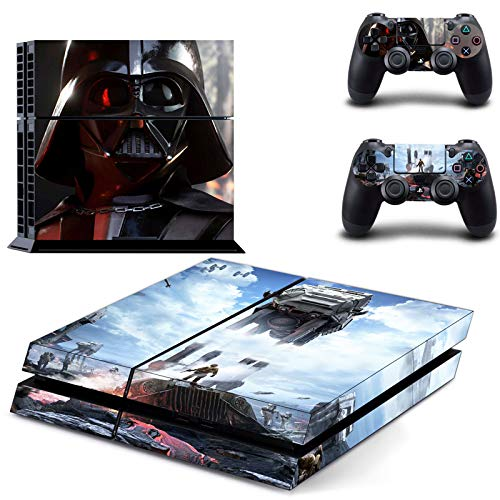 FENGLING Star Wars Darth Vader Ps4 Skin Sticker Decal para Sony Playstation 4 Console y 2 Controller Skin Ps4 Sticker Vinyl Accessory