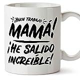 MUGFFINS Tazas para Mamá –'Buen trabajo Mamá' (Modelo 2) – Regalos para el día de la Madre/Desayunos originales