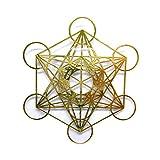 RELIGHT メタトロン 金属製 ステッカー シール 神聖幾何学模様 金色 (2.4cm(4枚))