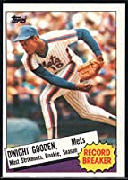 1985 Topps Baseball #3 Dwight Gooden New York Mets Record Breaker Official MLB Trading Card (stock photos used) Near Mint or better condition