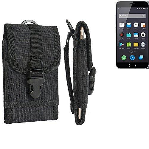 K-S-Trade® Per Nokia 130 Dual SIM Marsupio Custodia Cassa del Telefono Calotta di Protezione Smartphone Sacchetto Holster Cintura Nero Pianura Semplice Eleganza Funzionale Protettiva Verticale Cover