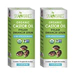 Beauty Shopping Organic Castor Oil Eyelash Serum By Sky Organics (1oz x 2 Pack) Cold-Pressed, 100%