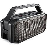 Altavoz Bluetooth, W-King 60W Altavoces Potente, 40h de Reproducción, 12000mAh Batería, Portátil Impermeable Speaker Bluetooth con microfono, NFC y Tarjeta TF