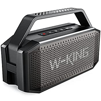 Bluetooth Speaker W-KING 60W Loud Rich Bass Large Portable Wireless Waterproof IPX6 Speaker with 12000mAh Power Bank 40H Playtime Bluetooth 5.0 TF Card AUX NFC for Outdoor Camping