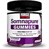 Force Factor Somnapure Gummies with Melatonin for Adults, White, Dream Berry, 120 Count (Pack of 1)