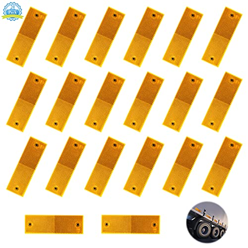 Reflector Naranja 20 Piezas Naranja Reflectores para Coches Reflectantes Remolque con Adhesivo,...