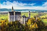 Poster 60 x 40 cm: Schloss Neuschwanstein im Sommer von