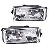 Driving Fog Lights Lamps Replacement for 2007-2014 Chevy Silverado 1500 2500 3500 Suburban Tahoe; 2007-2014 GMC Sierra,Yukon With H8 12V 35W Halogen Bulbs 25883245, GM2593160(Clear Lens)