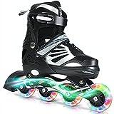 Sumeber Inline Skate Kinder Inliner Mädchen Rollschuhe Verstellbar mit leuchtenden Rädern Inline...