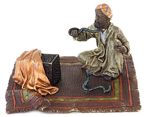 Kunst & Ambiente - Wiener Bronze - Schlangenbeschwörer - Orientalische Figur - Araberbronze - Orientalische Teppich Bronze - Vienna