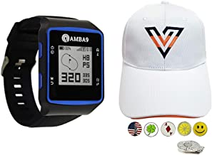$84 » Amba9 GPS Golf Watch Bundle with 1 Volvik V-Logo Golf Hat (Adjustable), 5 Ball Markers and 1 Hat Clip - Rangefinder with P...