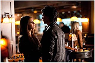The Vampire Diaries (TV Series 2009 - ) 8 Inch x 10 Inch photo Nina Dobrev Face to Face w/Ian Somerhalder at Club Pose 1 kn