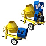 MH GLOBAL TOWABLE 9 CF Cubic Cement Mixer 12V Electric Starter 13 HP Gas...