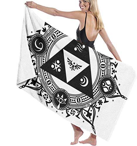 Ches Zelda Tattoo Damen Spa Dusch- und Wickeltücher – Weiß, Siehe Abbildung, Einheitsgröße