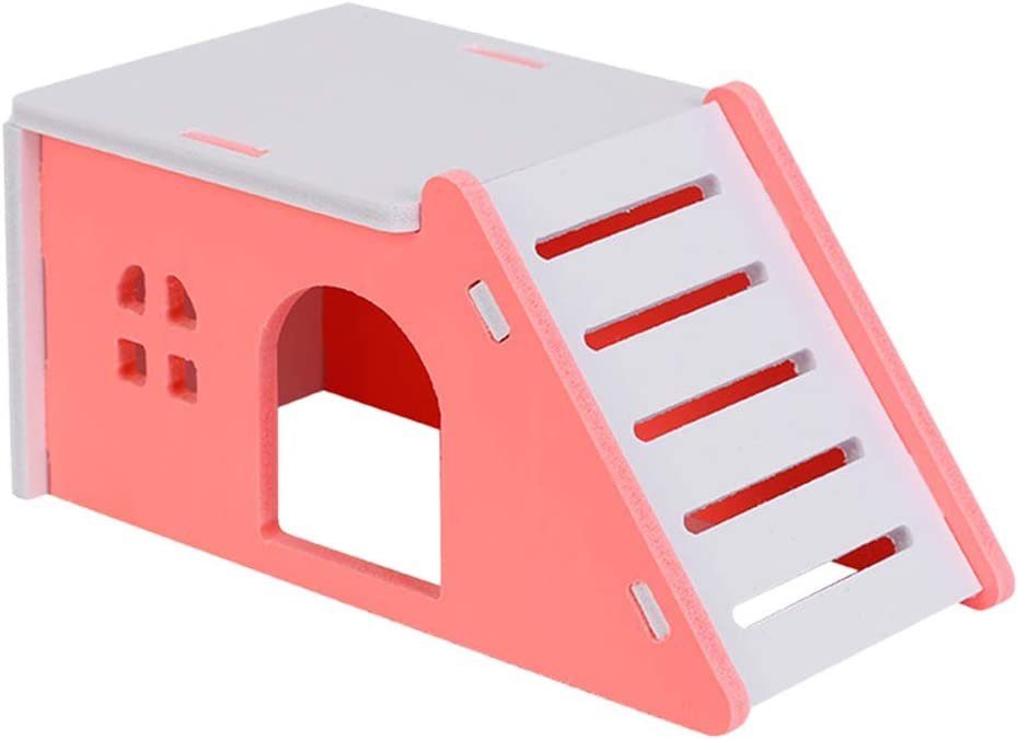 TEHAUX Hamster Mouse- New product!! Simulation S Arlington Mall Adorable Wooden House