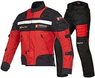 DUHAN(ドゥーハン) バイクジャケット&パンツセット ブルー XL バイクジャケット オールシーズン 春夏秋冬用 905415